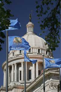 Capitol Dome with Flags
